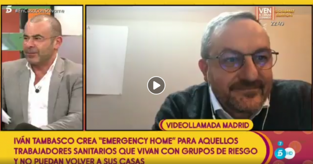 Sálvame: Entrevista de Jorge Javier Vázquez en directo a Ivan Tambasco